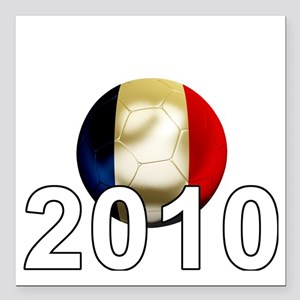 "France World Cup2Bk Square Car Magnet 3"" x 3"""