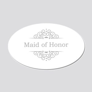 Maid of Honor in silver Wall Sticker