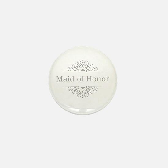 Maid of Honor in silver Mini Button