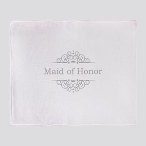 Maid of Honor in silver Throw Blanket