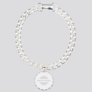 Maid of Honor in silver Charm Bracelet, One Charm