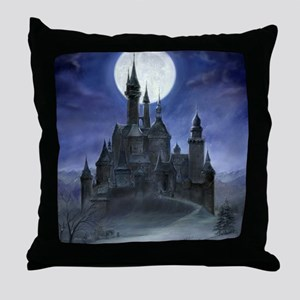 gothic castle reworked Throw Pillow