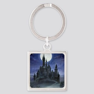 gothic castle reworked Square Keychain