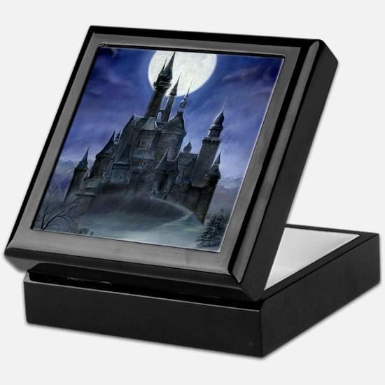gothic castle reworked Keepsake Box