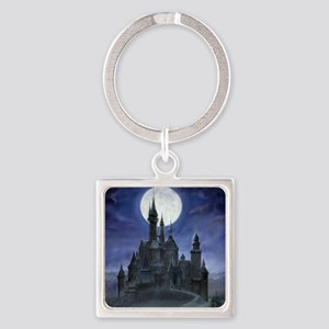 gothic castle reworked square Square Keychain