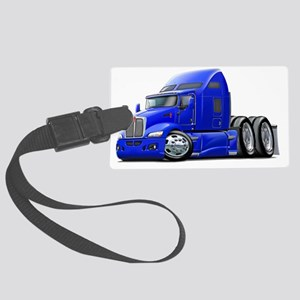 Kenworth 660 Blue Truck Large Luggage Tag