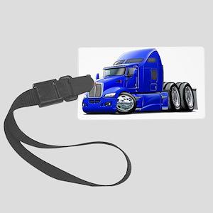 Kenworth 660 Blue Truck Large Luggage Tag