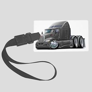 Kenworth 660 Grey Truck Large Luggage Tag