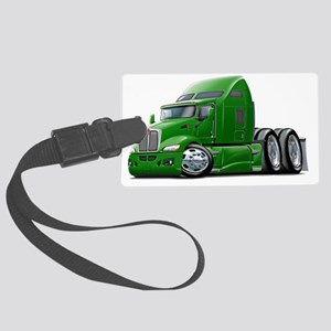 Kenworth 660 Green Truck Large Luggage Tag