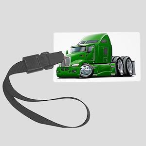 Kenworth 660 Green Truck Large Luggage Tag