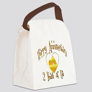 2-happy anniversary heart 2 Canvas Lunch Bag