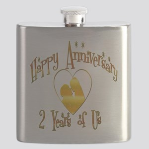 2-happy anniversary heart 2 Flask