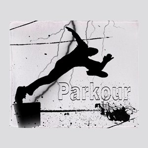 2-Parkour-lines10x10 copy Throw Blanket