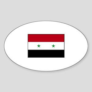 Syria Flag Oval Sticker
