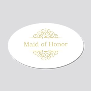 Maid of Honor in gold Wall Sticker