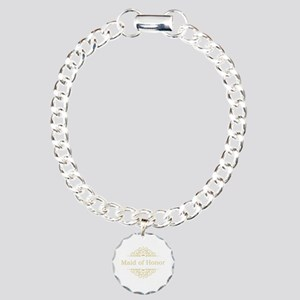 Maid of Honor in gold Charm Bracelet, One Charm