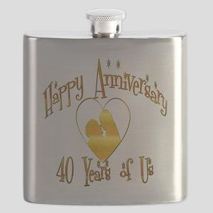 happy anniversary heart 40 Flask