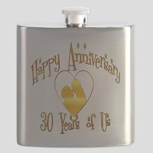 happy anniversary heart 30 Flask