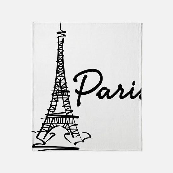 2-paris Throw Blanket