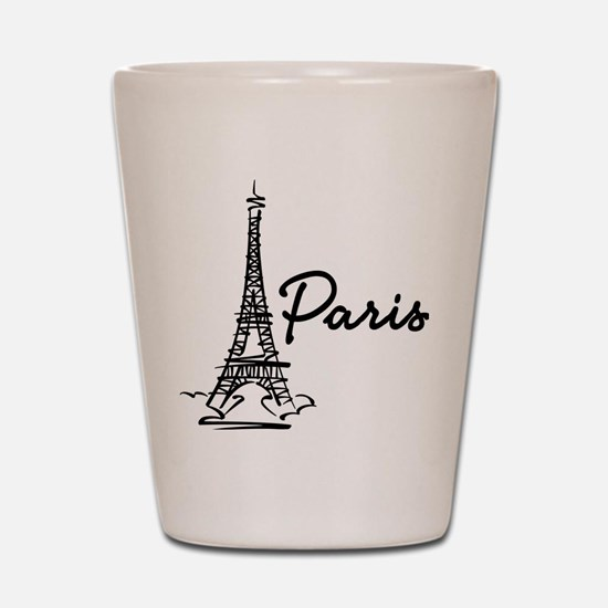 2-paris Shot Glass