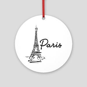 2-paris Round Ornament