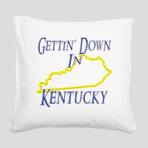 Kentucky - Gettin Down Square Canvas Pillow
