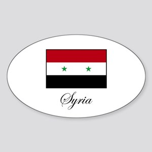Syria Oval Sticker