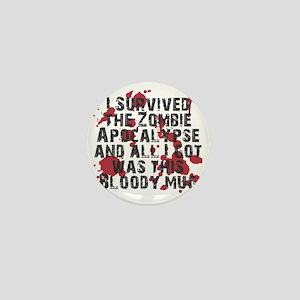 zombie apocalypse mug Mini Button