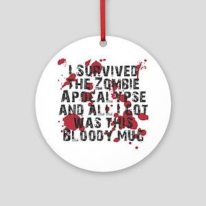 zombie apocalypse mug Round Ornament