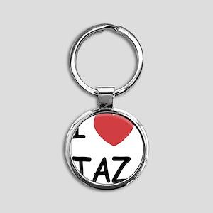 TAZ01 Round Keychain