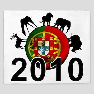 Portugal Football2 King Duvet
