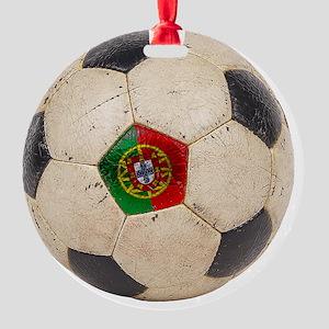 Portugal Football6 Round Ornament
