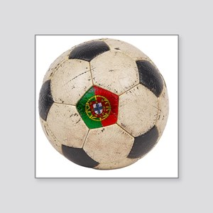 "Portugal Football6 Square Sticker 3"" x 3"""