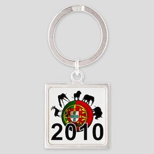 Portugal Football2 Square Keychain