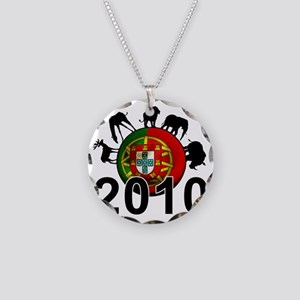 Portugal Football2 Necklace Circle Charm