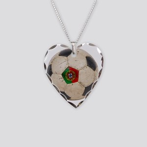 Portugal Football6 Necklace Heart Charm