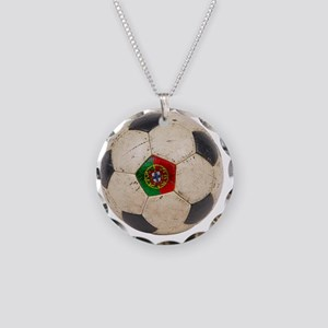 Portugal Football6 Necklace Circle Charm