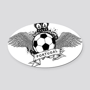 Portugal Football5 Oval Car Magnet
