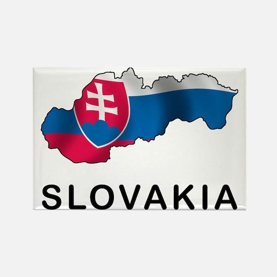 MapOfSlovakia1 Rectangle Magnet