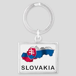 MapOfSlovakia1 Landscape Keychain