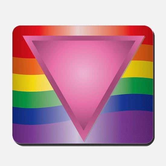 2-Wide Rainbow Triangle Mousepad