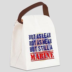 Not as Lean Still a Marine Canvas Lunch Bag
