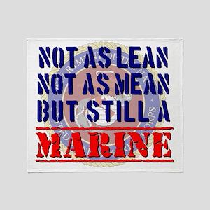 Not as Lean Still a Marine Throw Blanket
