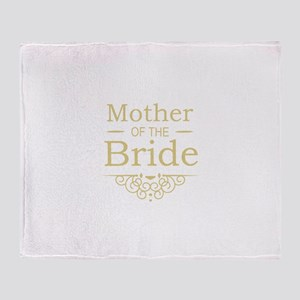 Mother of the Bride gold Throw Blanket