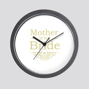 Mother of the Bride gold Wall Clock