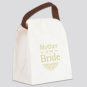 Mother of the Bride gold Canvas Lunch Bag