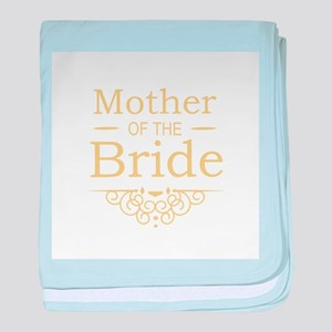 Mother of the Bride gold baby blanket