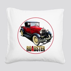 RedAroadster-C8trans Square Canvas Pillow