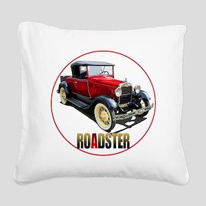 RedAroadster-C8trans Square Canvas Pillow