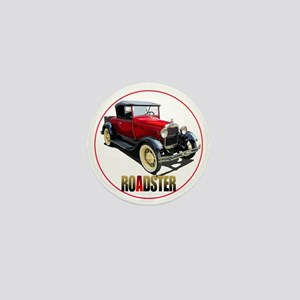 RedAroadster-C8trans Mini Button